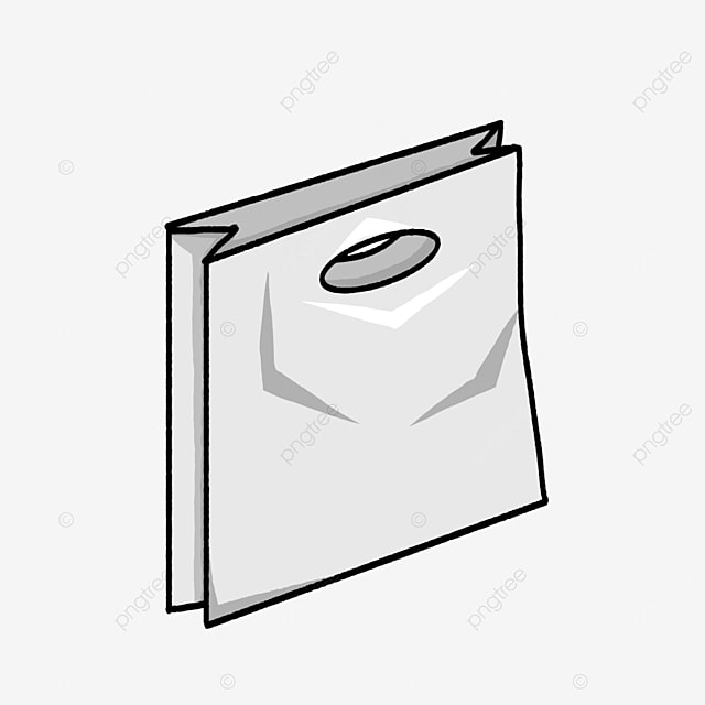 flat plastic bag clip art