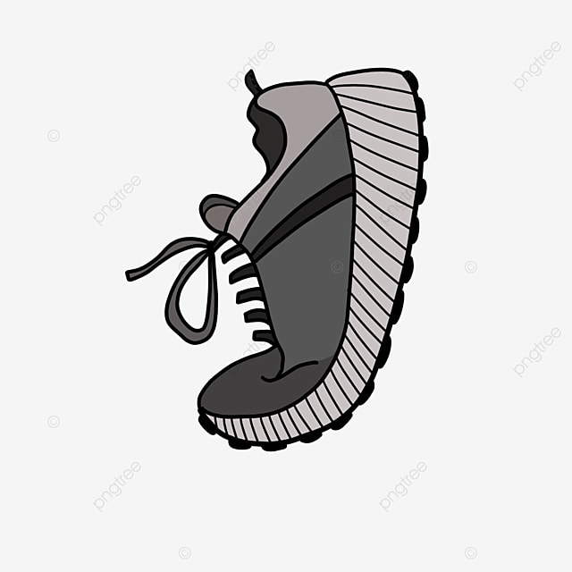 gray comfortable running shoes clipart
