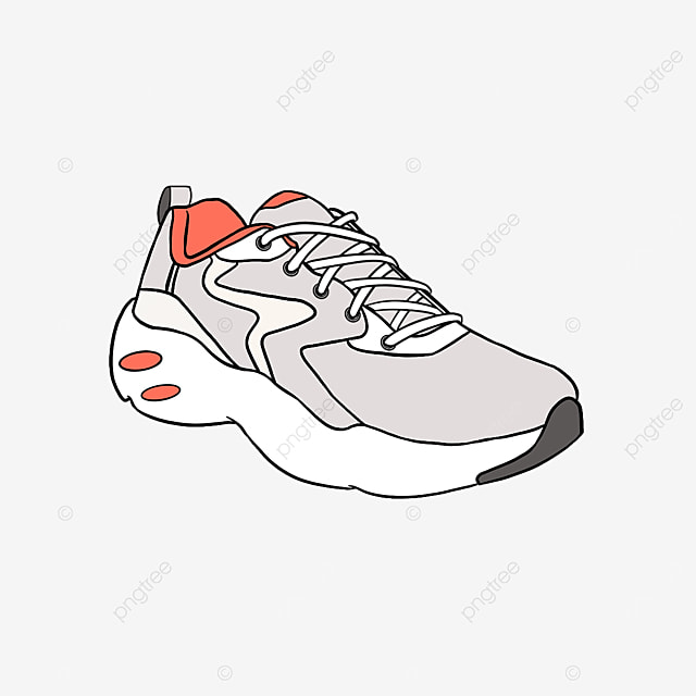 gray fitness sport running shoes clipart