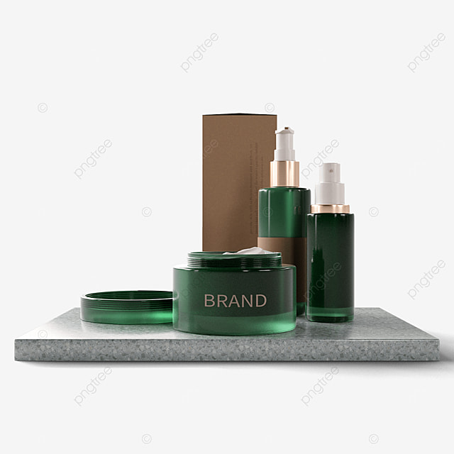 green glass texture environmentally friendly cosmetic packaging