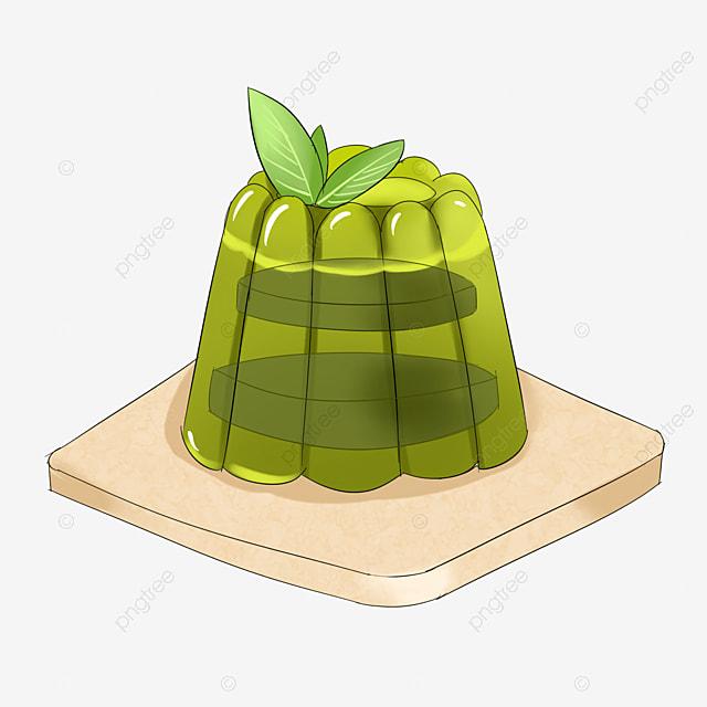 green matcha sandwich jelly clip art