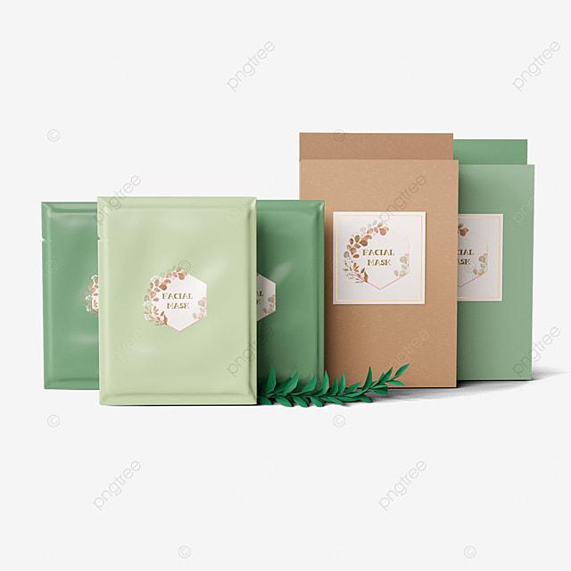 green packaging mask
