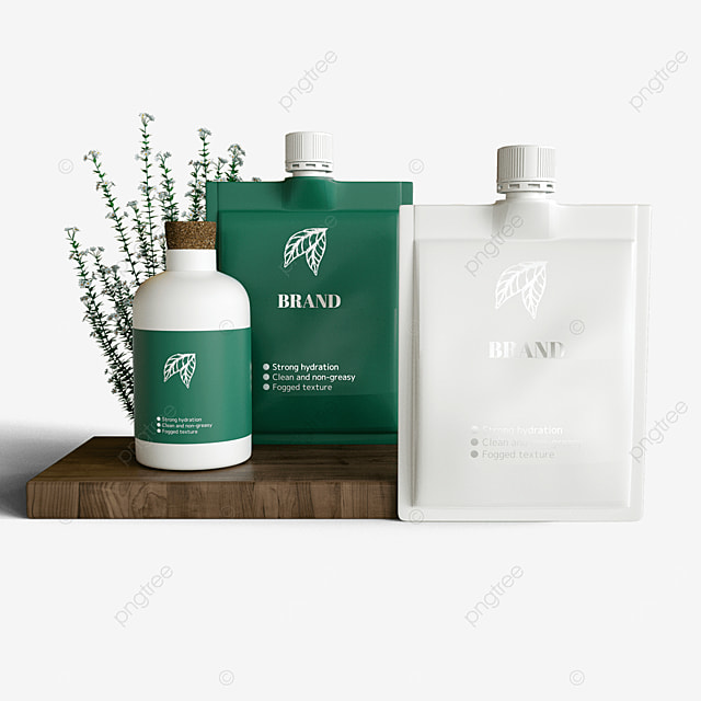green plant extraction environmentally friendly cosmetic packaging