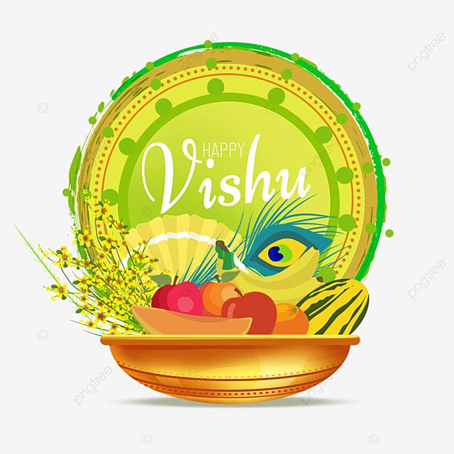 indian vishu fruit on green vintage background