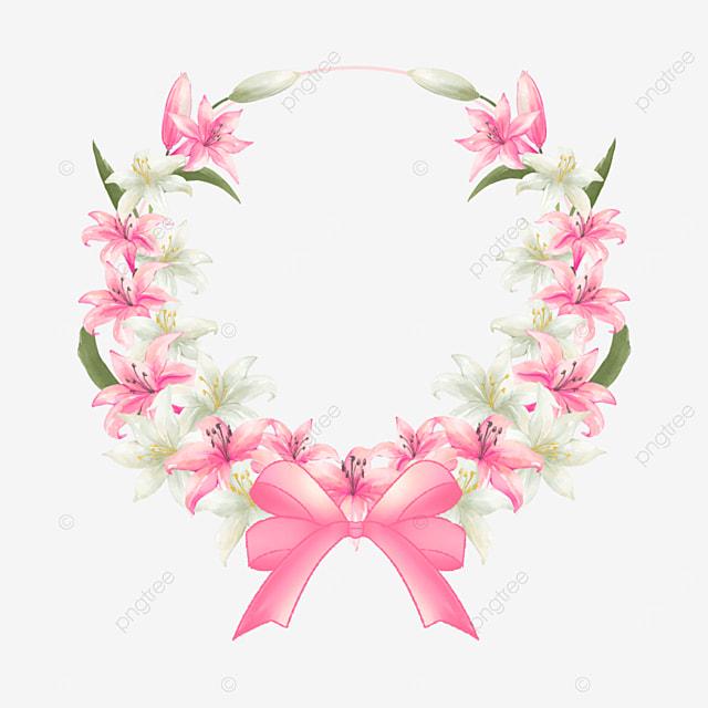 lily bridal wedding border bow