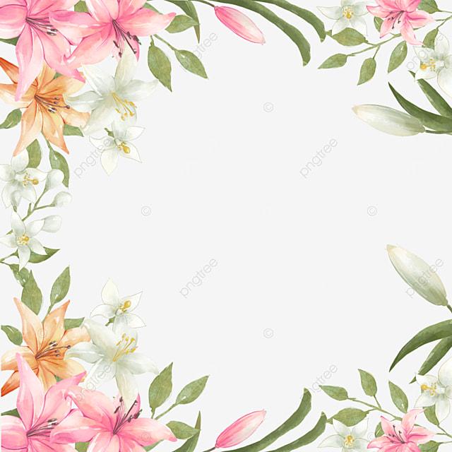lily bride invitation card border