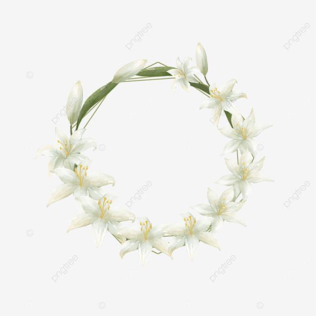 lily bride round wedding border