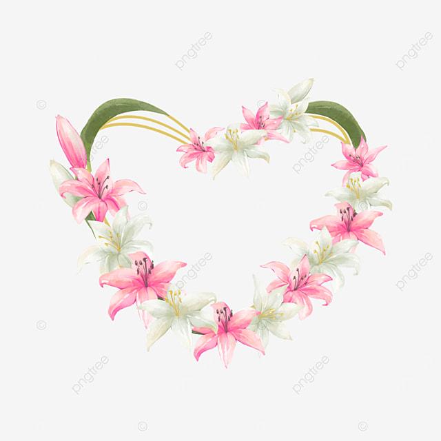 loving wedding lily border invitation card