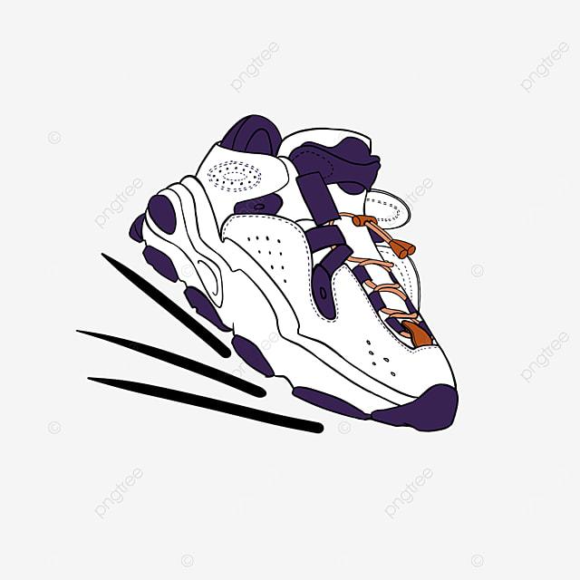 men basketball running shoes sport clipart