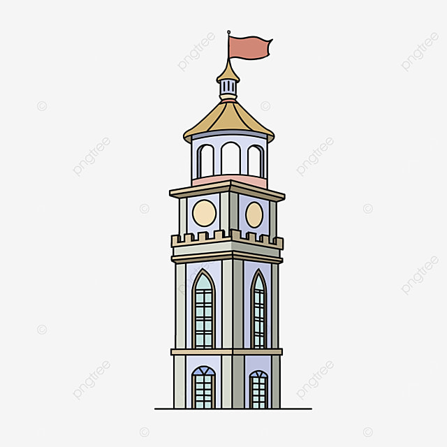 modern style tower clipart