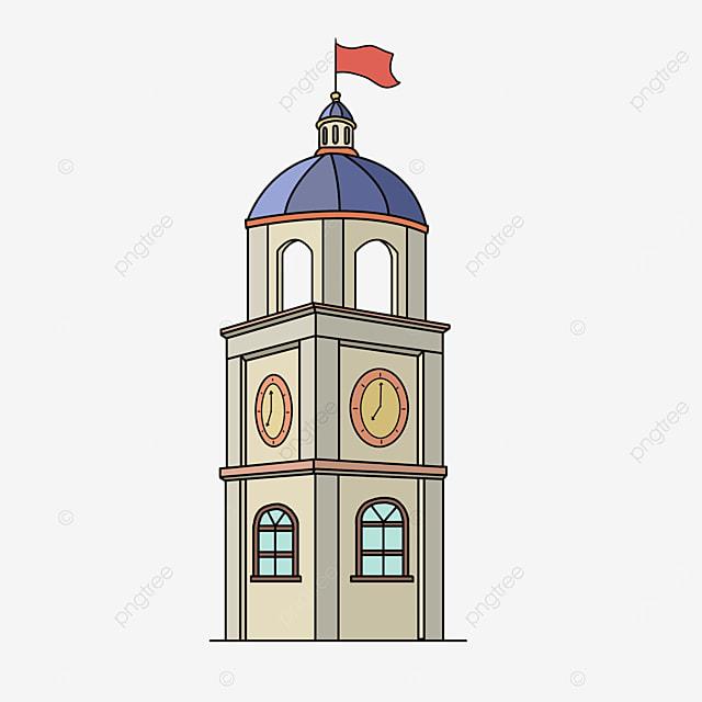modern western tower clip art