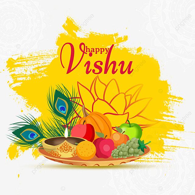 nasturtium and fruit for vishu festival in india