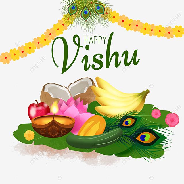 nasturtium and fruit on leaves for vishu festival in india