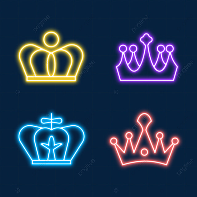 neon light effect crown with small ball