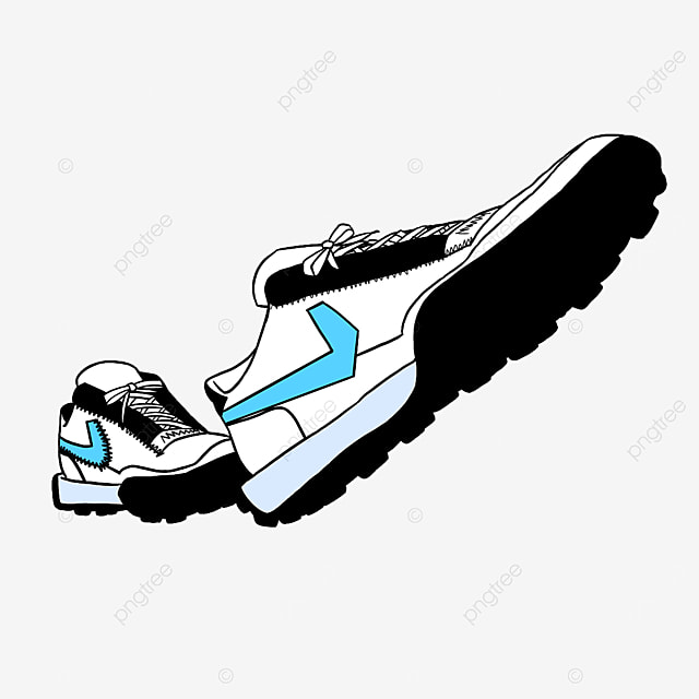 new fashion casual running shoes clipart