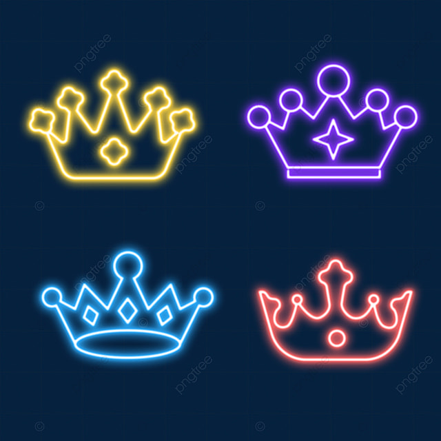 noble and elegant neon light effect crown