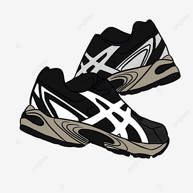 outdoor sports mountain climbing running shoes clipart