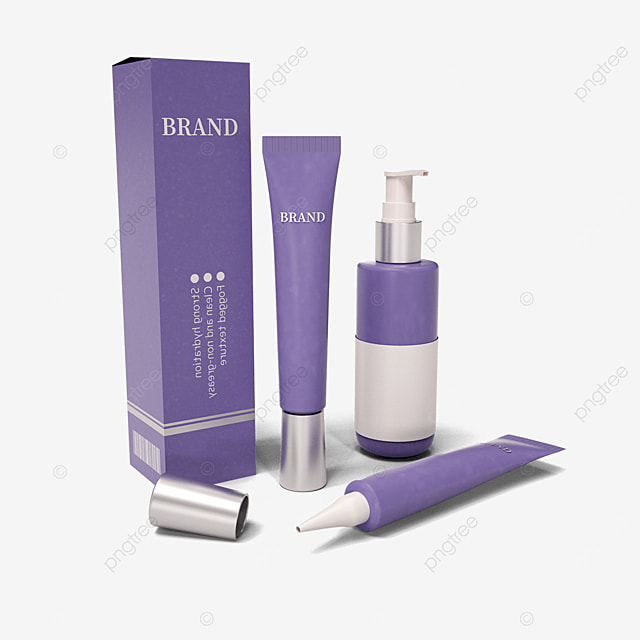 purple eco friendly cosmetic packaging