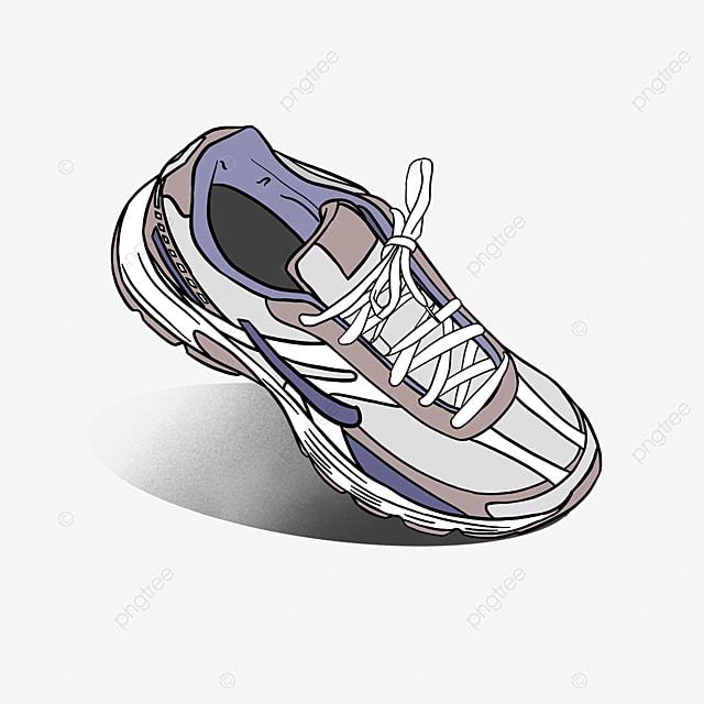 purple fashion running shoes sport clipart