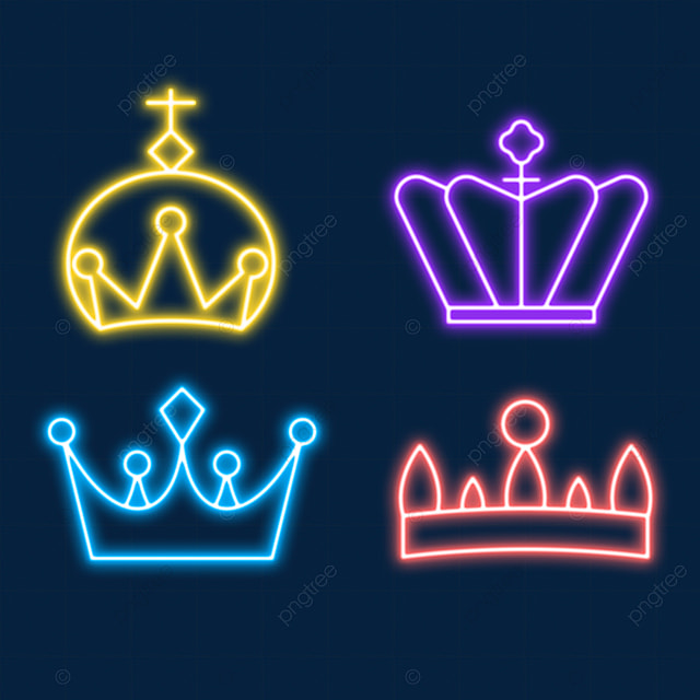 queens day neon light effect crown