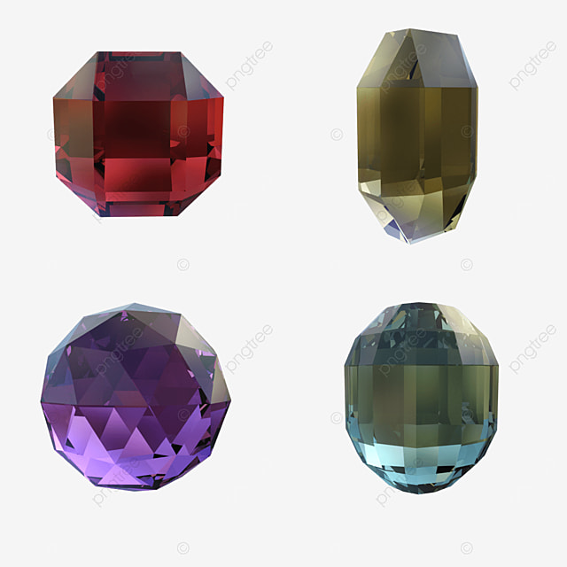 red yellow purple and green four color crystal