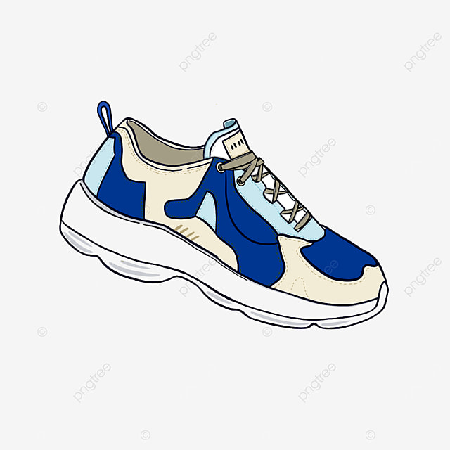 refreshing neutral casual running shoes clipart