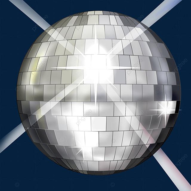 silver shining disco ball clipart