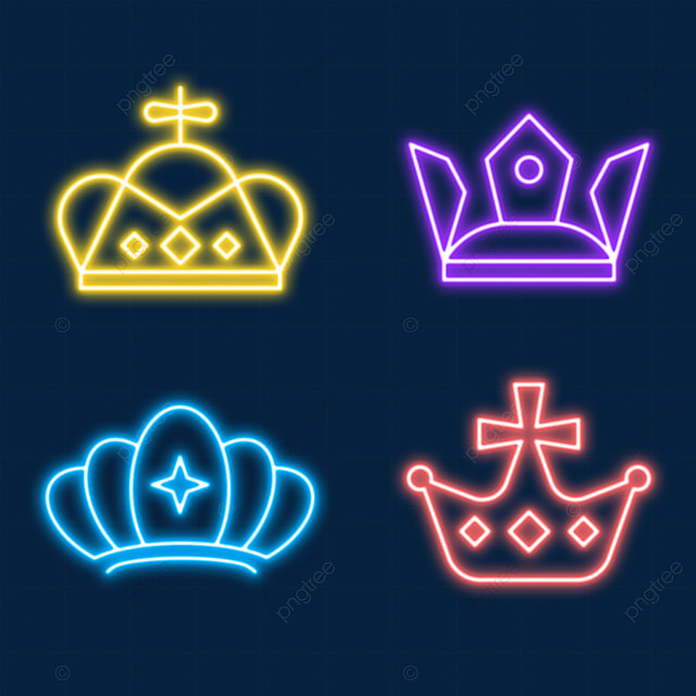 the neon light effect crown worn at the coronation ceremony