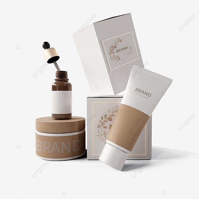 three dimensional environmentally friendly white cosmetic packaging box