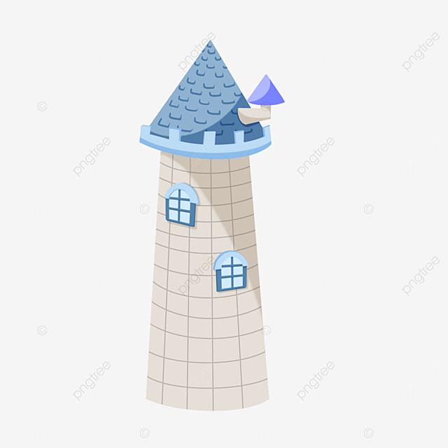 tower clipart blue brick spire
