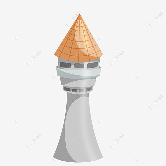 tower clipart orange cone roof
