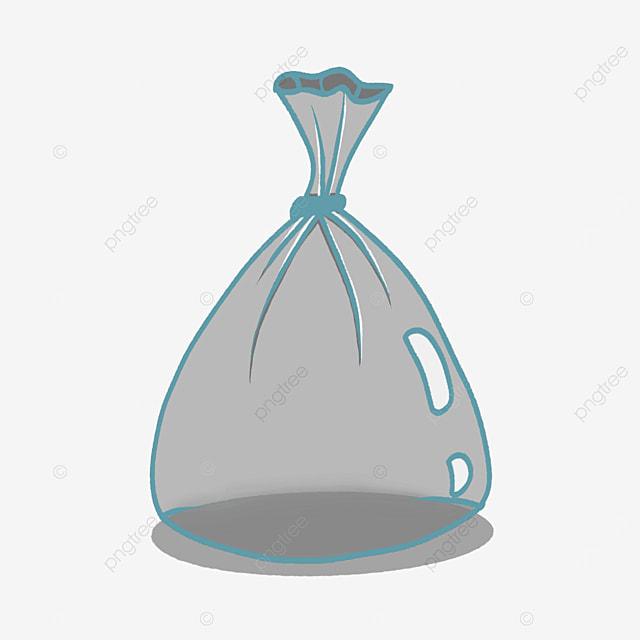 transparent plastic bag clipart