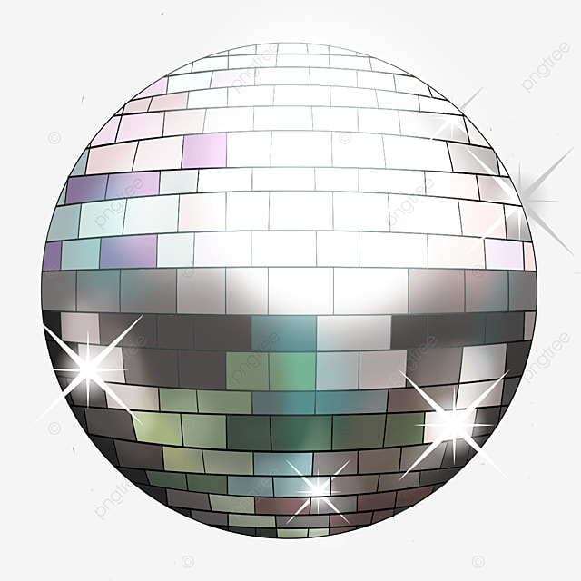 variegated mixed disco ball with silver grey subject clip art