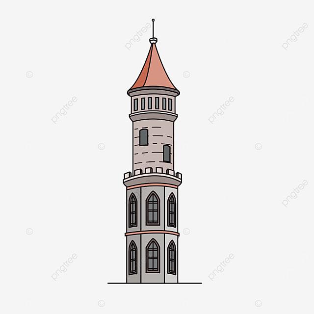 western castle tower clip art