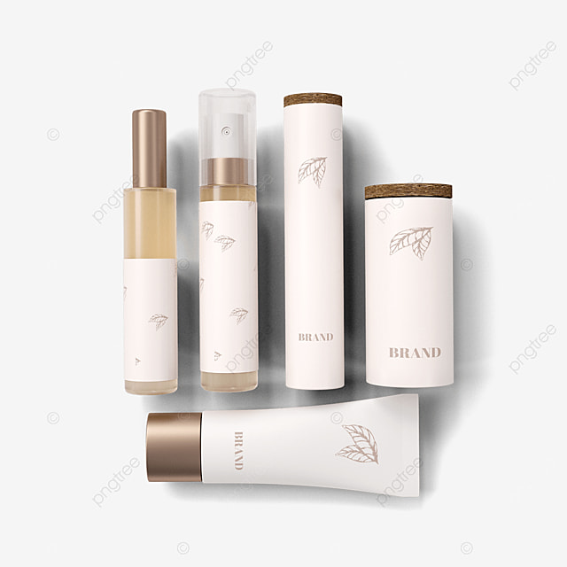 white environmentally friendly cosmetic packaging
