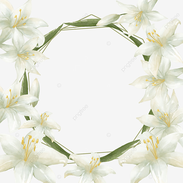 white lilies bridal wedding border