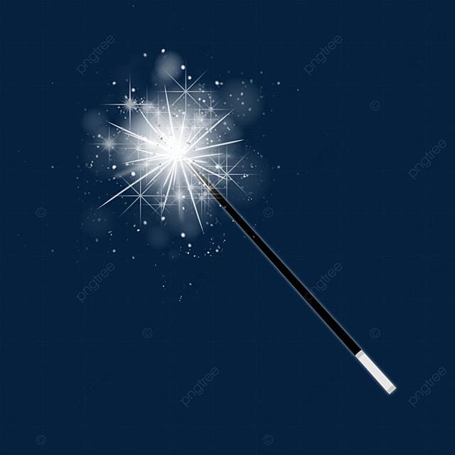 white magic wand light effect