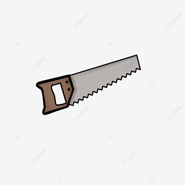 wooden handle saw clip art