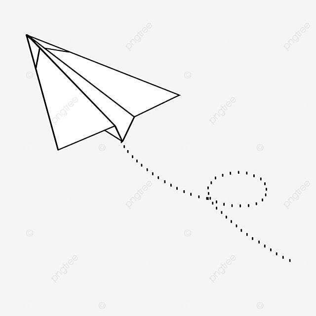 arrow paper airplane clip art