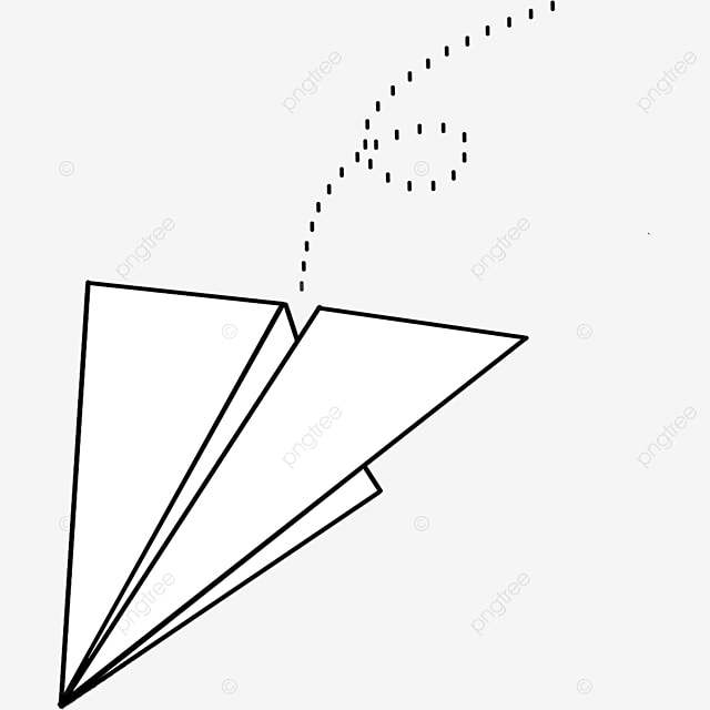 falling paper airplane clipart