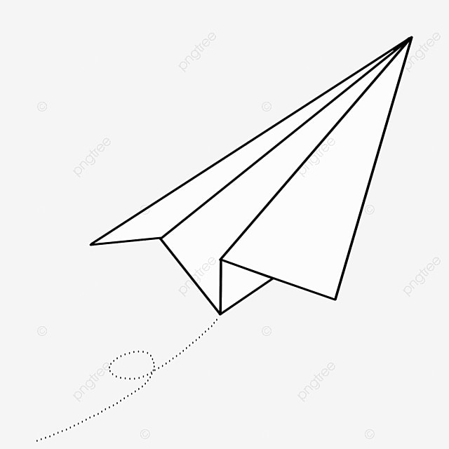 large paper airplane clip art