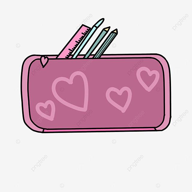 love pattern pencil case clipart