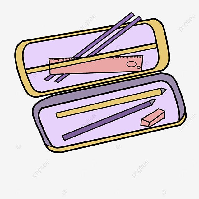 open pencil box clipart