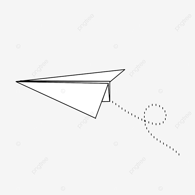 smooth flying paper airplane clip art