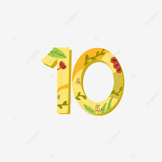 Numbers 10 Ten One Zero, Number, 10, One PNG Transparent Clipart ...