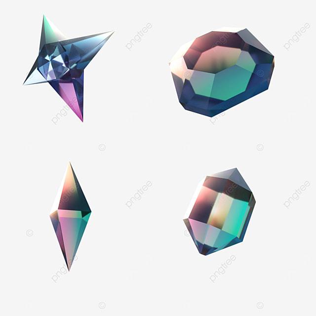 pink blue gradient game gem