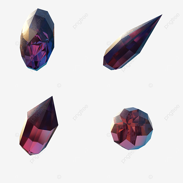 red purple gradient game gems