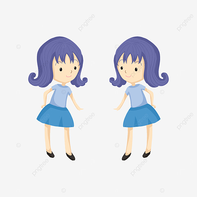 curly twins clip art