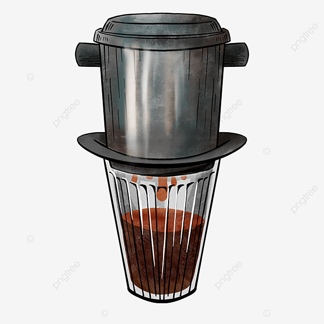high cup drink vietnamese filter coffee clipart