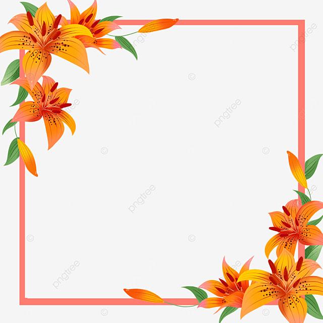lilies wedding border